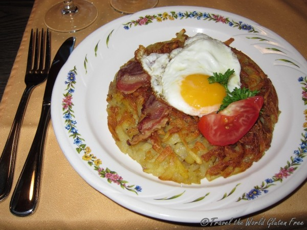 Yet another roesti, this time in our little mountain cabin