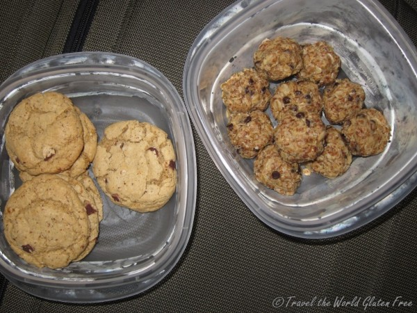 gluten free homemade baked goods for all-inclusive vacation