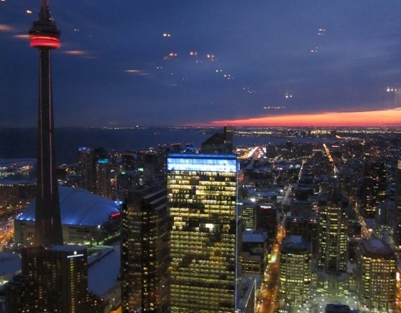 The stunning views from Canoe, atop the TD Bank Tower