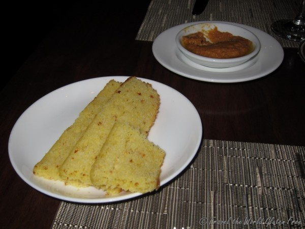 Such a treat to be served delicious gluten free, jalapeno cornbread