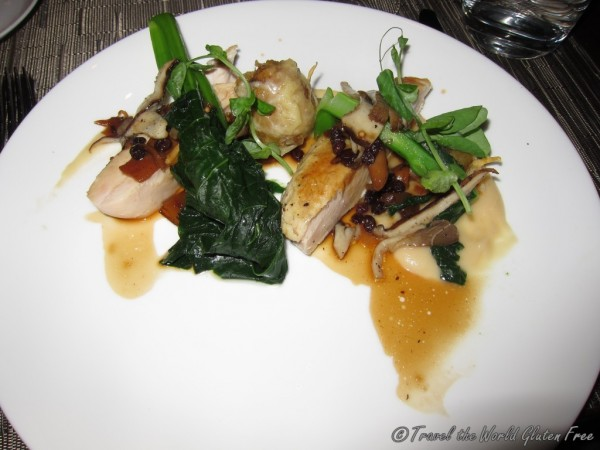 Aurora Chicken served with Northern Woods Mushrooms and Spiced Apple Currant Compote