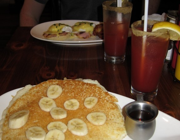 Coconut pancakes at Cardinal Rule