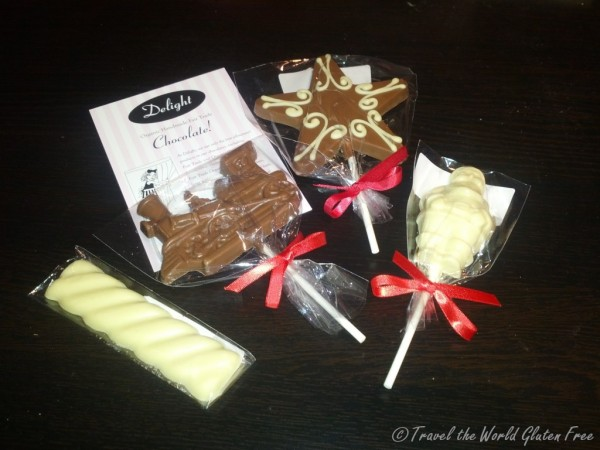 Christmas themed chocolates from Delight