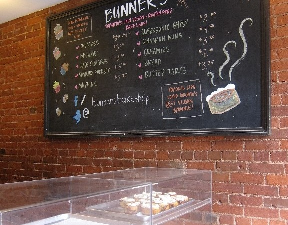 The vegan and gluten free treats inside Bunner's