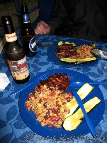 Gluten Free Camping Dinner Steak