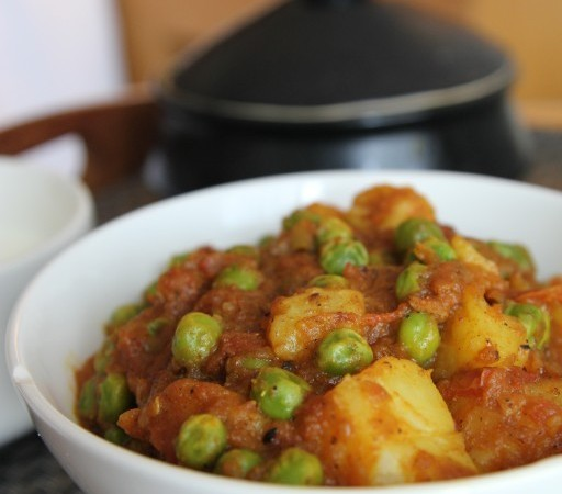 Aloo Mutter, one of my favourite vegetable dishes