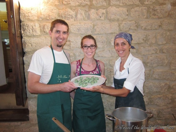 With Marianna, our lovely chef and instructor