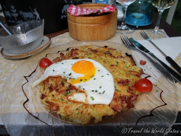 Hands down the best Farmers Roesti I ate in Switzerland - naturally gluten free