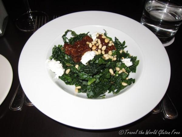 Dinosaur kale and Ontario ricotta salad