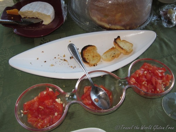 The gluten free bruschetta with brie was a big hit & went quickly