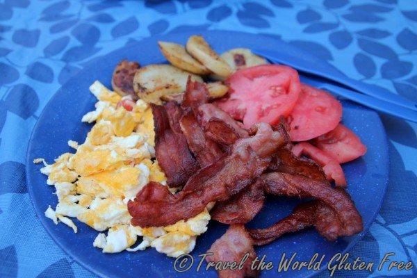 Gluten Free Camping Breakfast