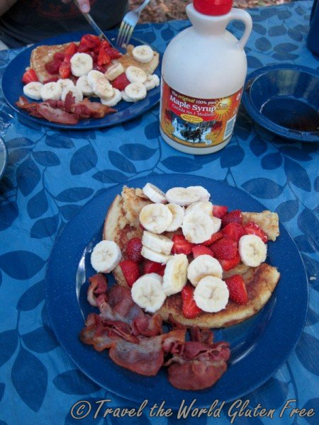 Gluten Free Camping Breakfast Pancakes