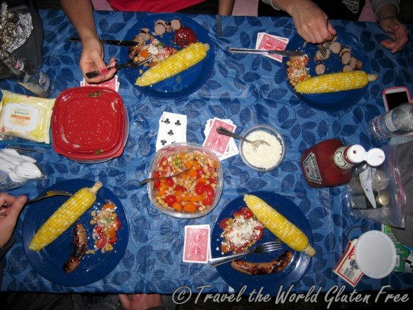 Gluten Free Camping Dinner