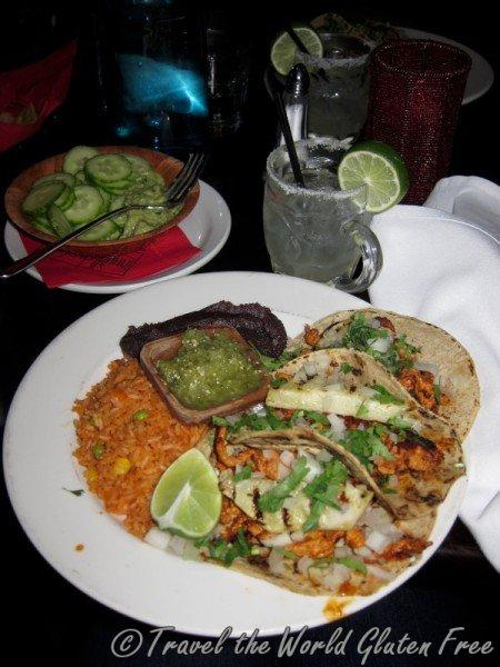 Gluten Free Tacos at Milagro Cantina